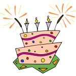 Vector image of birthday cake