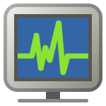 Computer monitoring icon vector illustration