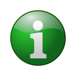 Green information vector icon