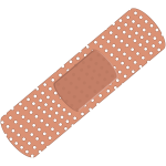 Vector image of plaster