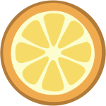 Vector image of slice of orange