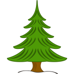 Vector image of green Christmas tree