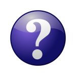 Blue question vector icon