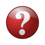 Red question mark sign vector image