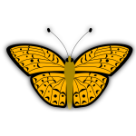 Vector image of orange pattern butterfly