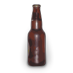 Vector graphics of brown beer bottle