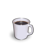 Vector clip art of white cup of hot coffee