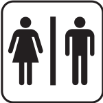 Male and female toilet sign vector drawing