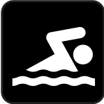 Swimming pictograph