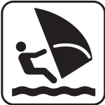 US National Park Maps pictogram for windsurfing vector image