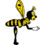 bending bee from side
