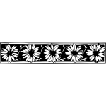 Vector drawing of daisy decorative border