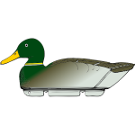 duck decoy -side view