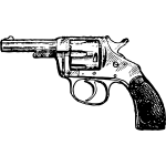 Vector illustration of revolver with rubber handle