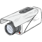 Vector drawing of surveillance camera with rain shade