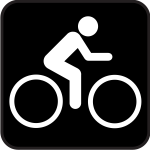 Pictogram for biking area vector image