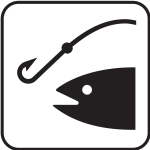 US National Park Maps pictogram for an angling area vector image