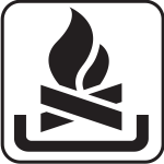 US National Park Maps pictogram for open fire area vector image