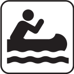 US National Park Maps pictogram for kayaking  vector image