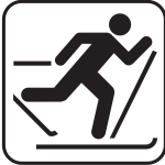 US National Park Maps pictogram for ski walking vector image