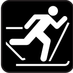 Pictogram for Nordic skiing vector image