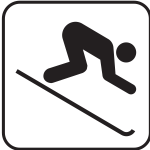 US National Park Maps pictogram for ski ground vector image