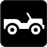 Pictogram for open roof car tour vector image