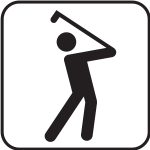 US National Park Maps pictogram for a golf playing field vector image