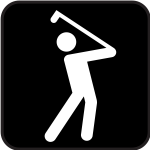 Pictogram for a golf pitch vector image