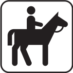 US National Park Maps pictogram for a horseriding activity vector image