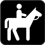 Pictogram for a horse riding field only vector image