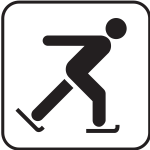 US National Park Maps pictogram for an iceskating rink vector image