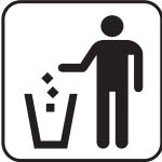 US National Park Maps pictogram for a trash bin vector image