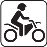 US National Park Maps pictogram for motorbikes only traffic vector image