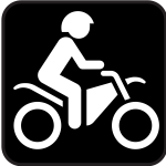 Pictogram for motorbikes only vector image