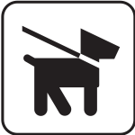US National Park Maps pictogram allowing dog walks on lead only vector image