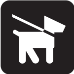 Pictogram for dogs on lead only vector image