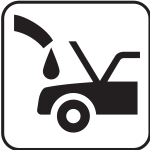 US National Park Maps pictogram for a gasoline station vector image