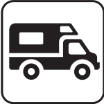 US National Park Maps pictogram for an RV campground vector image