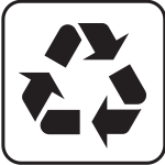 US National Park Maps pictogram for recycling vector image