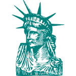 Statue of Liberty vector drawing