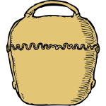 Vector graphic of Swiss cow bell