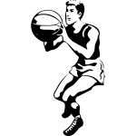 Basketball player vector clip art