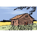 Vector graphics of barn