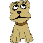 Cartoon dog portrait vector illustration