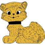 Vector clip art of cat toy