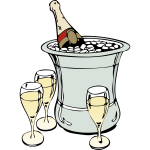 Champagne serving vector image
