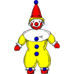 Clown vector drawing