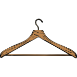 Coat hanger vector image
