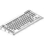 Vector clip art of typing input device
